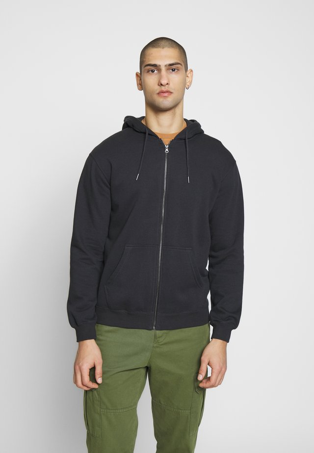ZIP UP HOOD - Zip-up hoodie - washed black