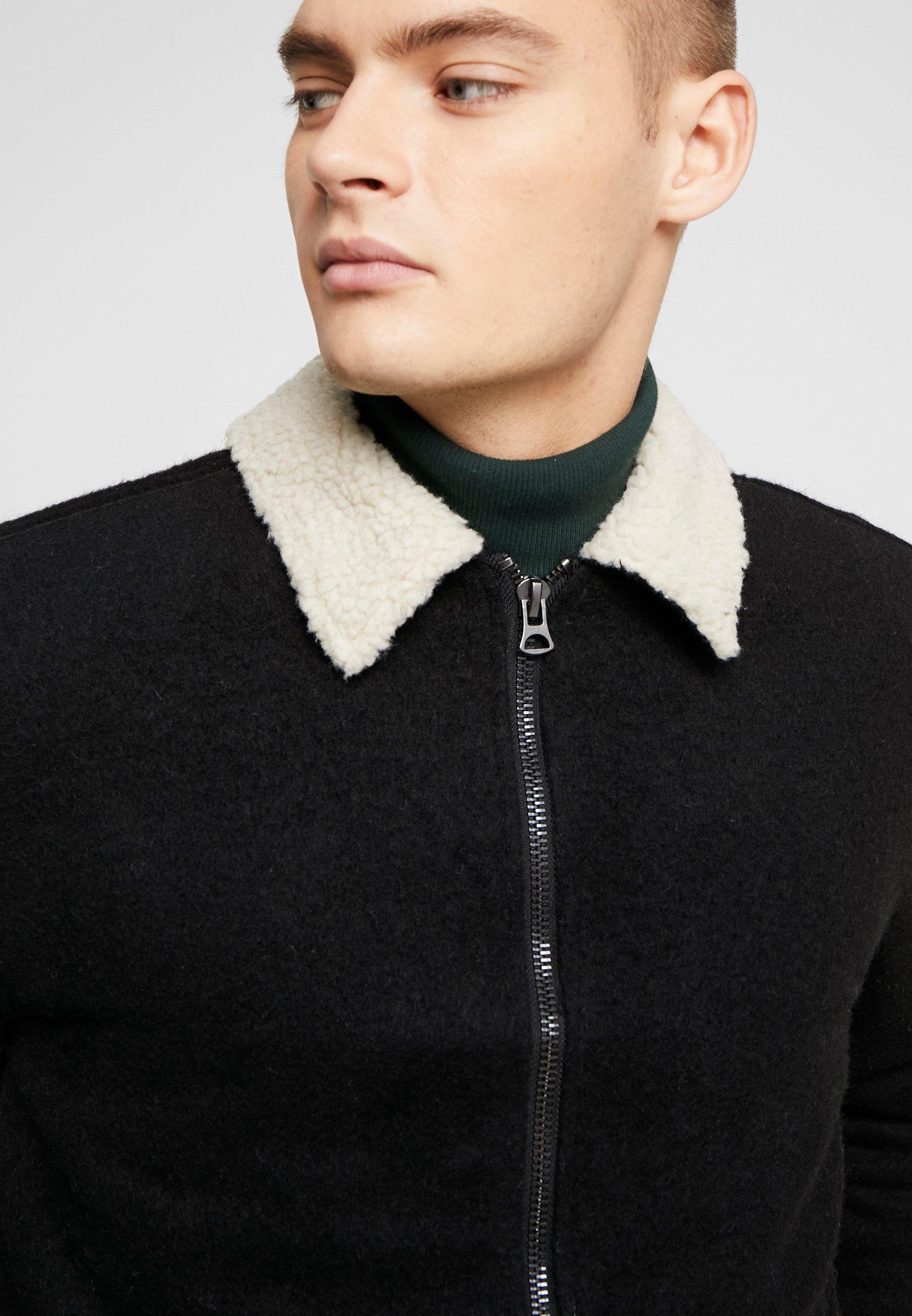 Cotton On Sherpa Trucker Jacket - Übergangsjacke Black