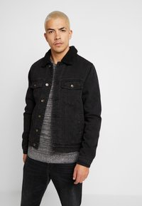 Cotton On - BORG JACKET - Lett jakke - black acid - 0