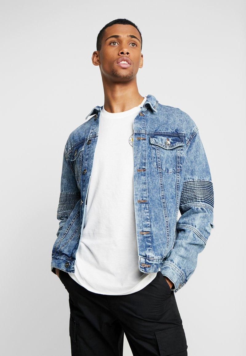 Cotton On - MOTO JACKET - Kurtka jeansowa - bleach