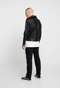 Cotton On - BIKER JACKET - Faux leather jacket - black - 2