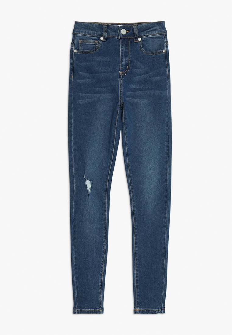 Cotton On - TEEN HIGH RISE - Jeans Skinny - rich mid indigo