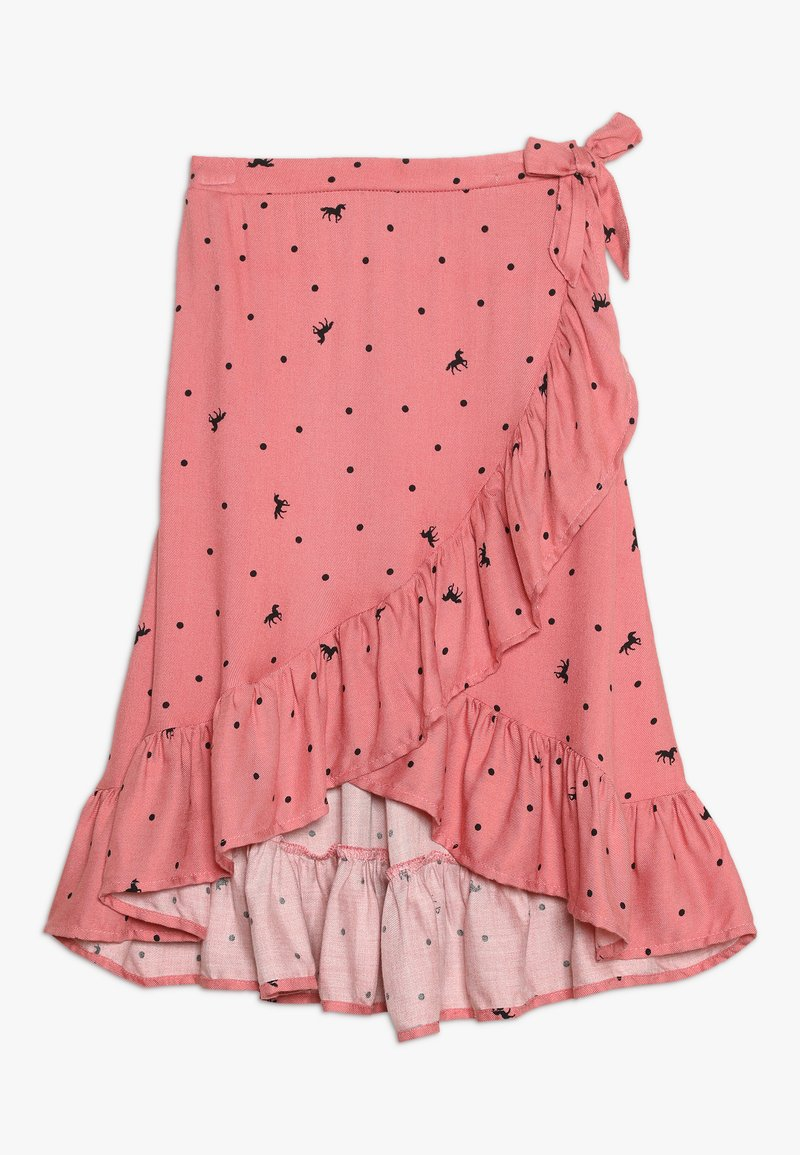 Cotton On - RIA RUFFLE MIDI SKIRT - A-Linien-Rock - rusty blush