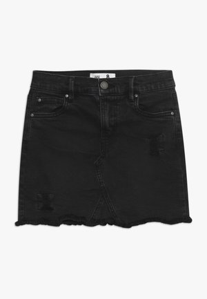 FINN SKIRT - Farkkuhame - washed black