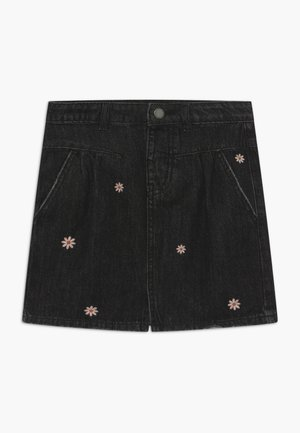 KIRSTIE - Denim skirt - black