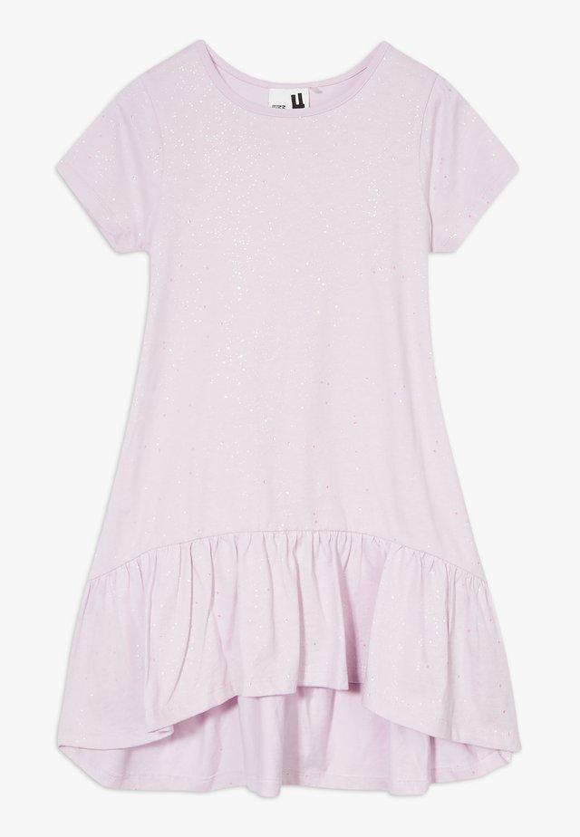 JOSS SHORT SLEEVE DRESS - Jersey dress - lavendar fog/galactic sparkle