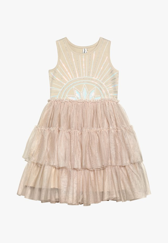 KIDS IRIS DRESS - Juhlamekko - mottled beige