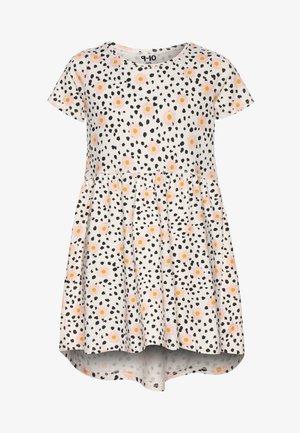 FREYA SHORT SLEEVE DRESS - Žerzejové šaty - dark vanilla