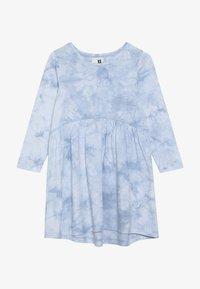 Cotton On - FREYA LONG SLEEVE DRESS - Jersey dress - dusty blue tie dye - 2