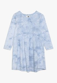 Cotton On - FREYA LONG SLEEVE DRESS - Jersey dress - dusty blue tie dye - 0