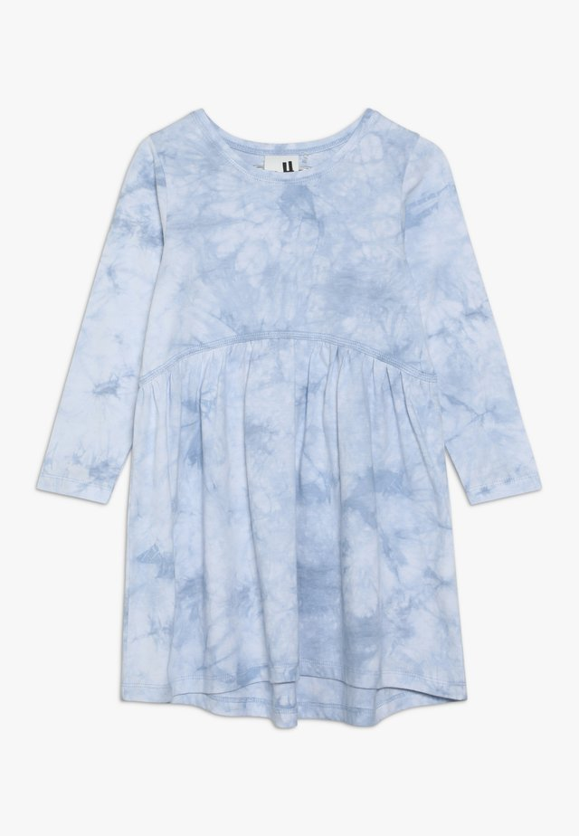 FREYA LONG SLEEVE DRESS - Jersey dress - dusty blue tie dye
