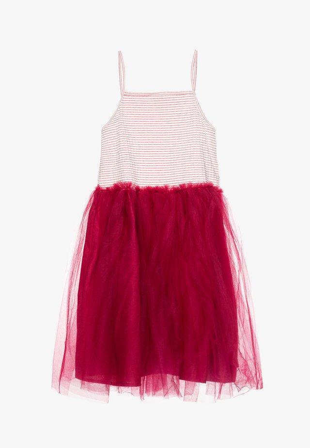 INES DRESS UP - Vestito elegante - vanilla stripe/berry