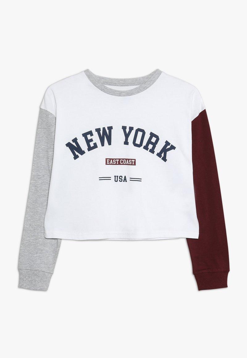 Cotton On - GIRLS DROP SHOULDER TEE - Camiseta de manga larga - white