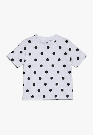 KIDS PENELOPE LOOSE FIT TEE - T-shirt z nadrukiem - summer grey marle/black