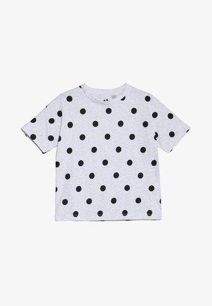 KIDS PENELOPE LOOSE FIT TEE - T-shirt print - summer grey marle/black