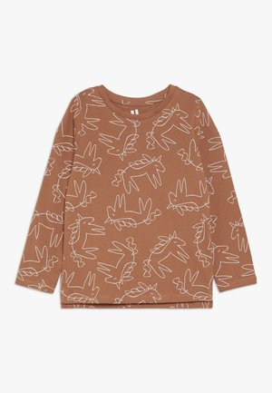 PENELOPE LONG SLEEVE TEE - Longsleeve - amber brown