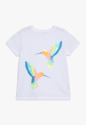 STEVIE EMBELLISHED - T-shirt med print - white