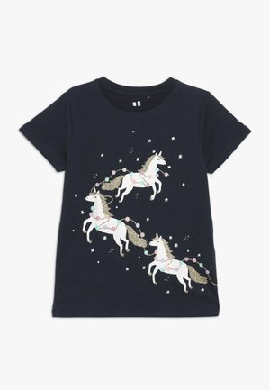 STEVIE EMBELLISHED TEE - T-shirt med print - indian ink