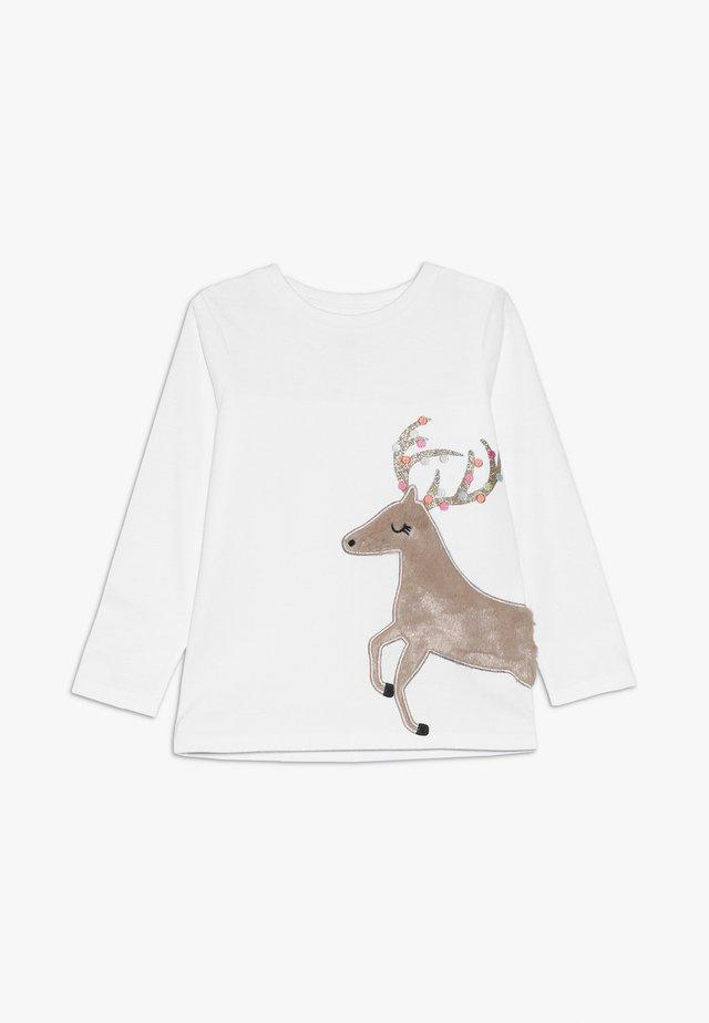 STEVIE EMBELLISHED - Bluzka z długim rękawem - white