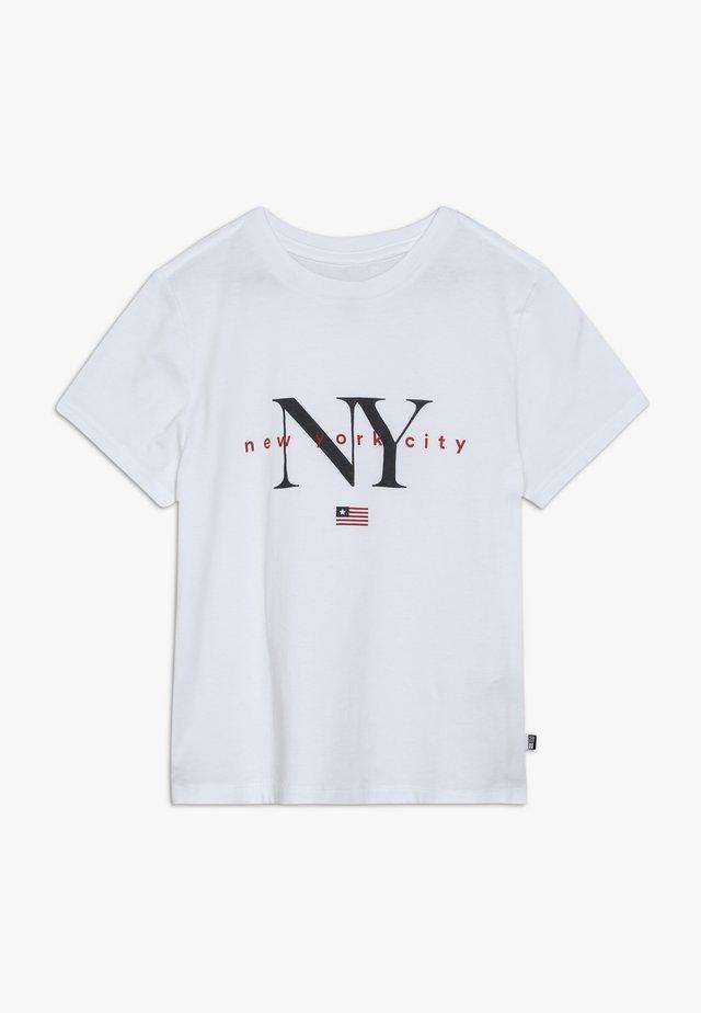 NEW YORK - Camiseta estampada - white
