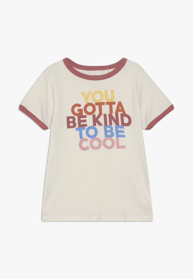 PENELOPE SHORT SLEEVE TEE - Camiseta estampada - dark vanilla/ringer