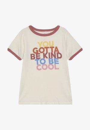 PENELOPE SHORT SLEEVE TEE - Print T-shirt - dark vanilla/ringer