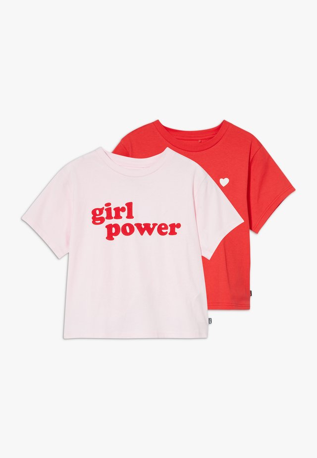 BOXY TEE 2 PACK - T-shirt print - light pink