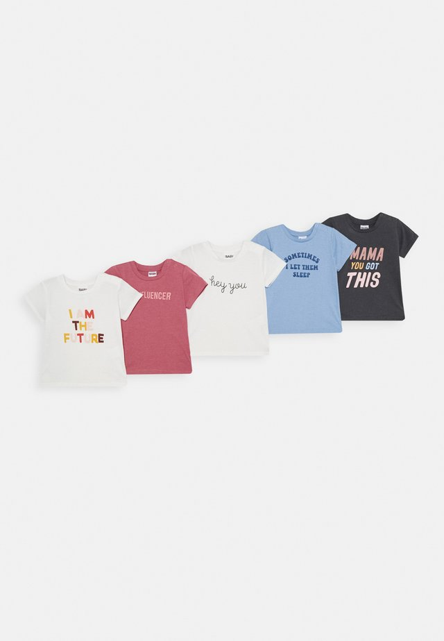 JAMIE SHORT SLEEVE TEE 5 PACK - Camiseta estampada - multicoloured