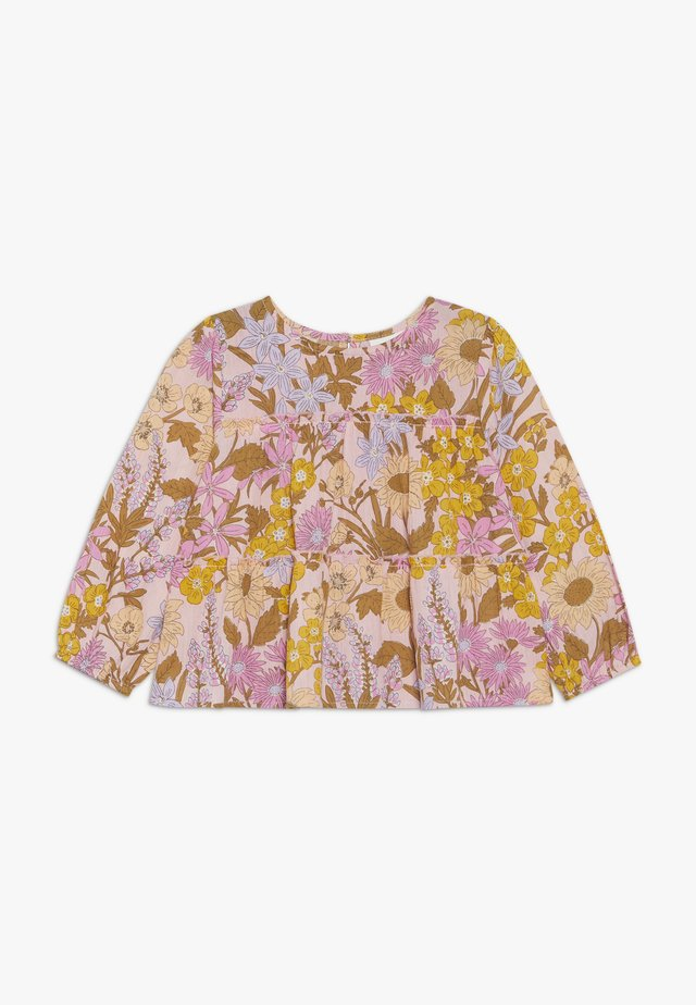 FRIDA LONG SLEEVE FRILL - Tunika - sweet blush