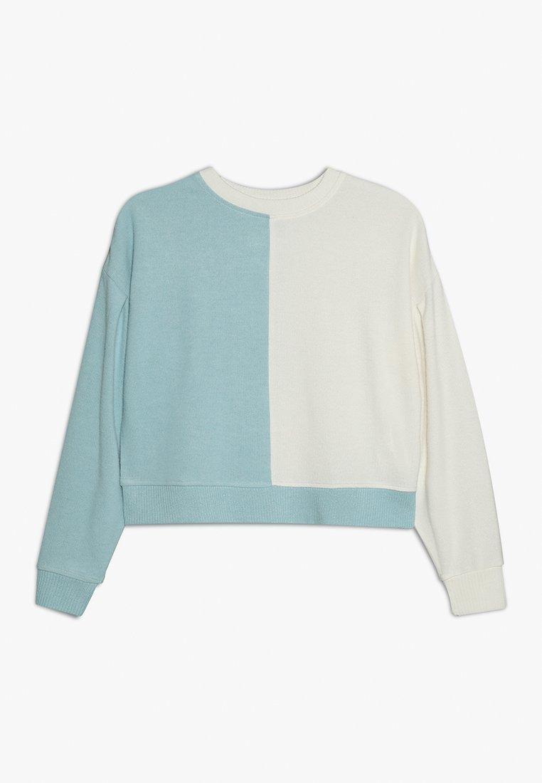 Cotton On - TEEN LOUNGE - Strickpullover - dark vanilla/winter blue splice