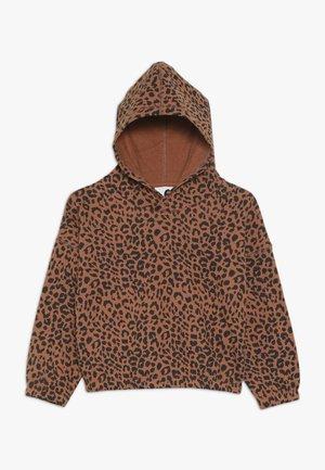 SUVI CROP HOODIE - Hoodie - amber brown
