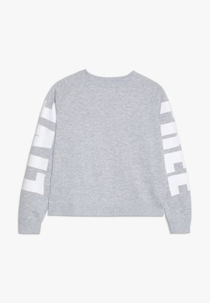 BOXY CREW NECK JUMPER - Sweatshirt - soft grey marle/white