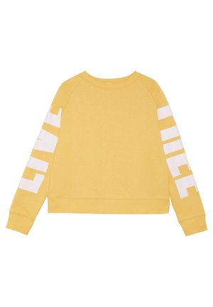 BOXY CREW NECK JUMPER - Felpa - soft yellow/pink