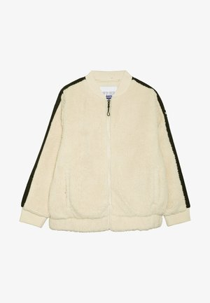 BOMBER JACKET - Light jacket - dark vanilla/black