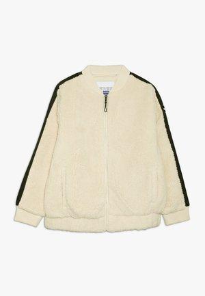 BOMBER JACKET - Light jacket - dark vanilla/black