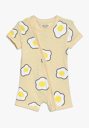 MINI ZIP THROUGH ROMPER BABY - Mono - lemon marle/sunny side up