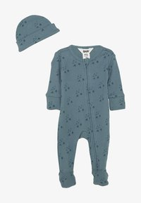 Cotton On - BUNDLE NEWBORN ZIP ROMPER BLANKET BEANIE SET - Muts - deep pool blue/forest - 4