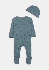 Cotton On - BUNDLE NEWBORN ZIP ROMPER BLANKET BEANIE SET - Muts - deep pool blue/forest - 1