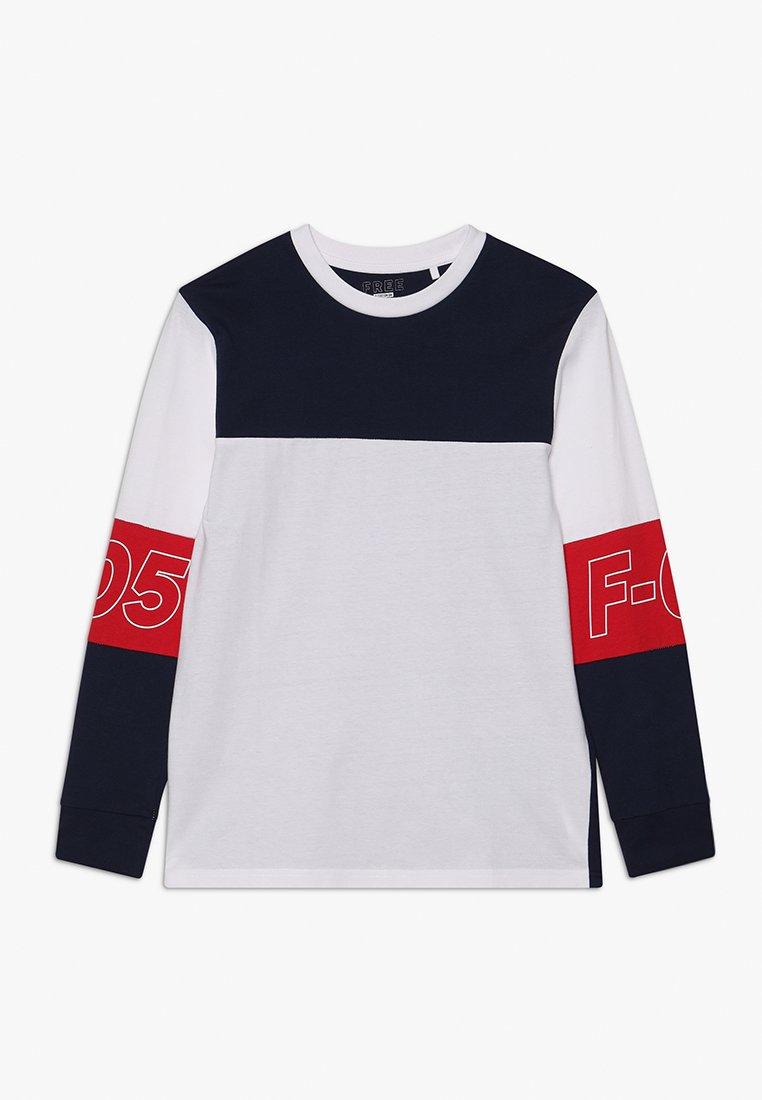 Cotton On - TEEN BOYS - Långärmad tröja - white/red/navy