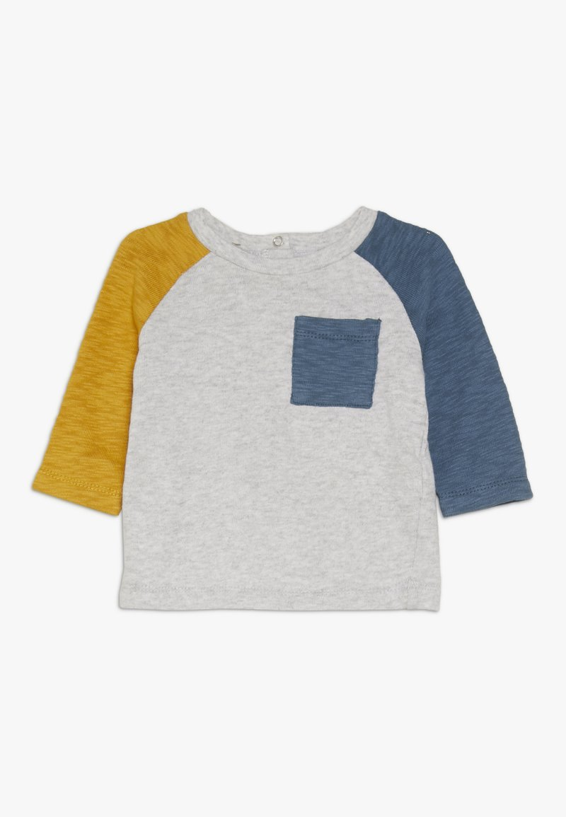 Cotton On - ROY RAGLAN LONG SLEEVE BABY - Long sleeved top - gold glow/washed steel blue
