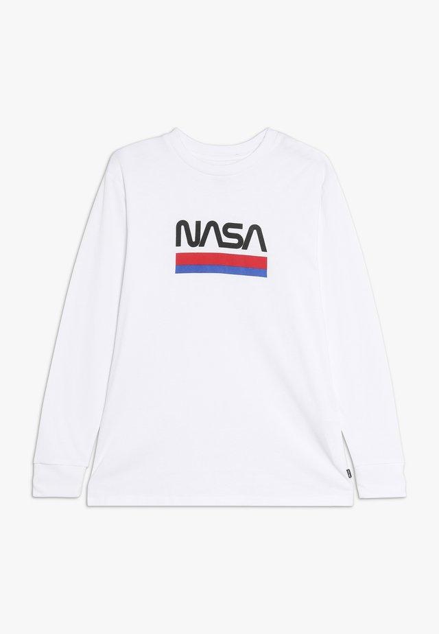 NASA - Bluzka z długim rękawem - white worm
