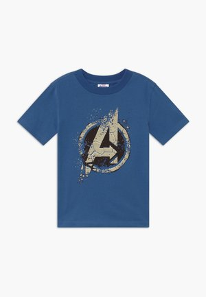 KIDS NASA CO-LAB SHORT SLEEVE TEE - Camiseta estampada - vintage blue