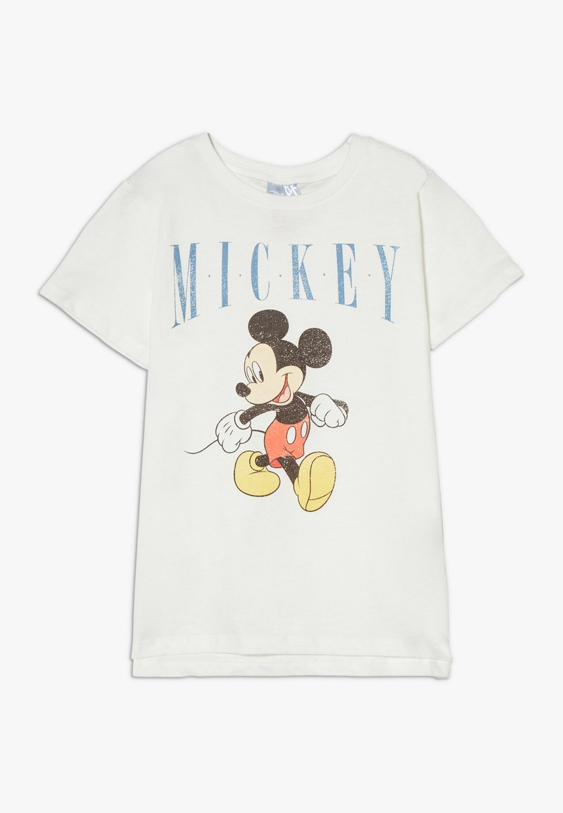 Cotton On - DISNEY MICKEY SLEEVE TEE - Camiseta estampada - retro white