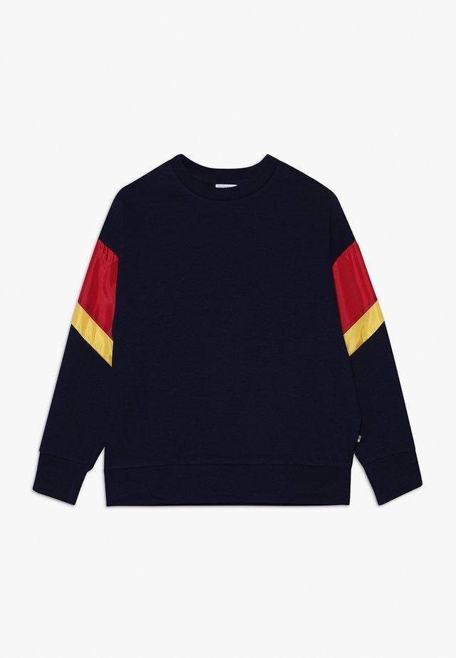 TEEN BOYS CREW - Sweatshirt - navy/red