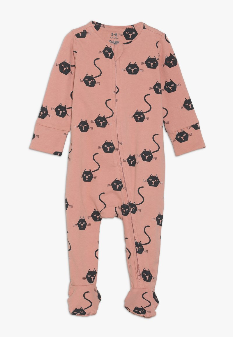 Cotton On - THE LONG SLEEVE ZIP ROMPER BABY - Jumpsuit - cameo brown
