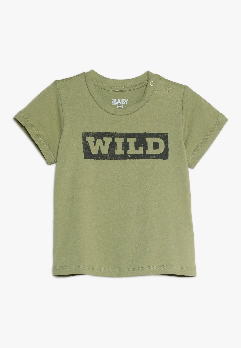 Cotton On - JAMIE SHORT SLEEVE TEE BABY - Triko s potiskem - khaki