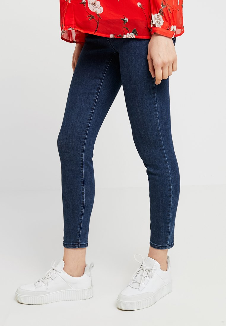 Cotton On - MID RISE MATERNITY GRAZER - Jeans Skinny Fit - mid sea blue