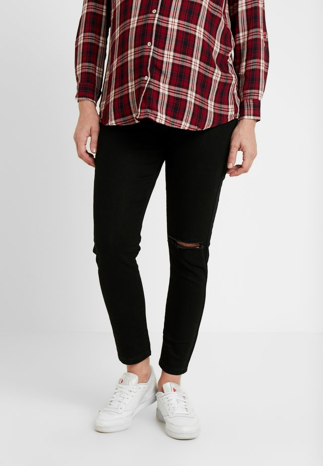 MATERNITY GRAZER - Jeans Tapered Fit - black