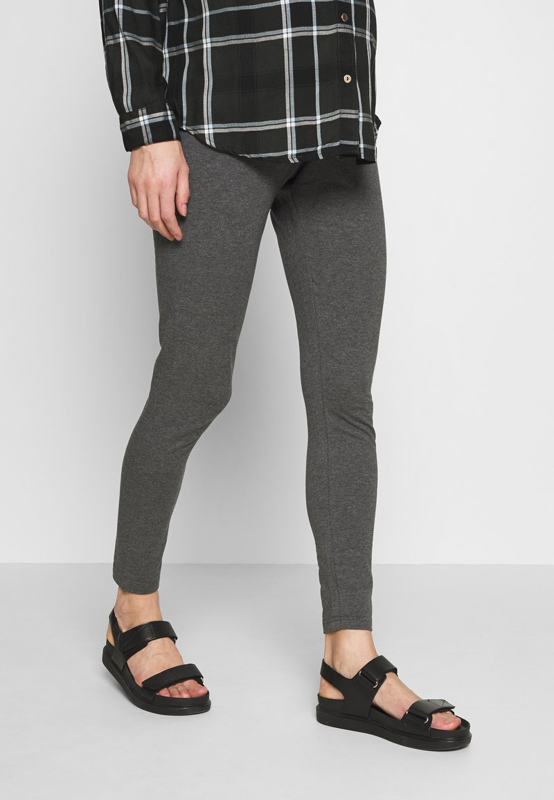 Cotton On - MATERNITY  - Legginsy - charcoal marle