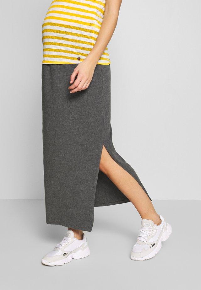 SIDE SPLIT SKIRT - Maxi skirt - grey